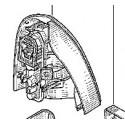 Feu arrière droit Renault Clio 2 Ph1