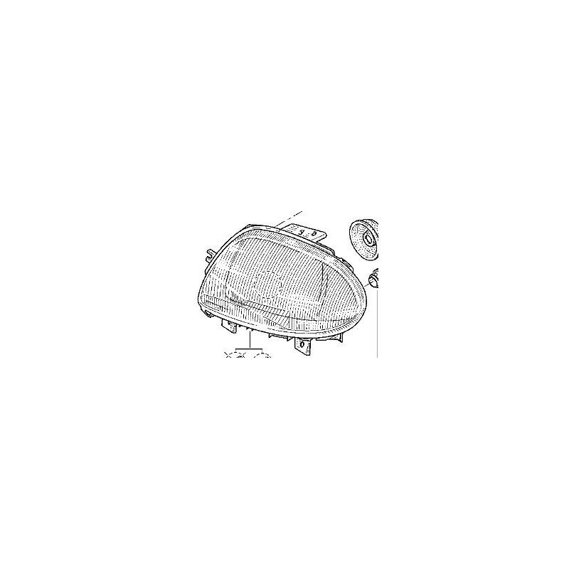 Optique avant gauche Renault Clio 2 Ph1
