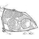 Optique avant droit Renault Clio 2 Ph2